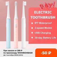 XIAOMI-cepillo de dientes eléctrico MIJIA T100 IPX7 para adultos, recargable, resistente al agua, Ultra sónico, automático