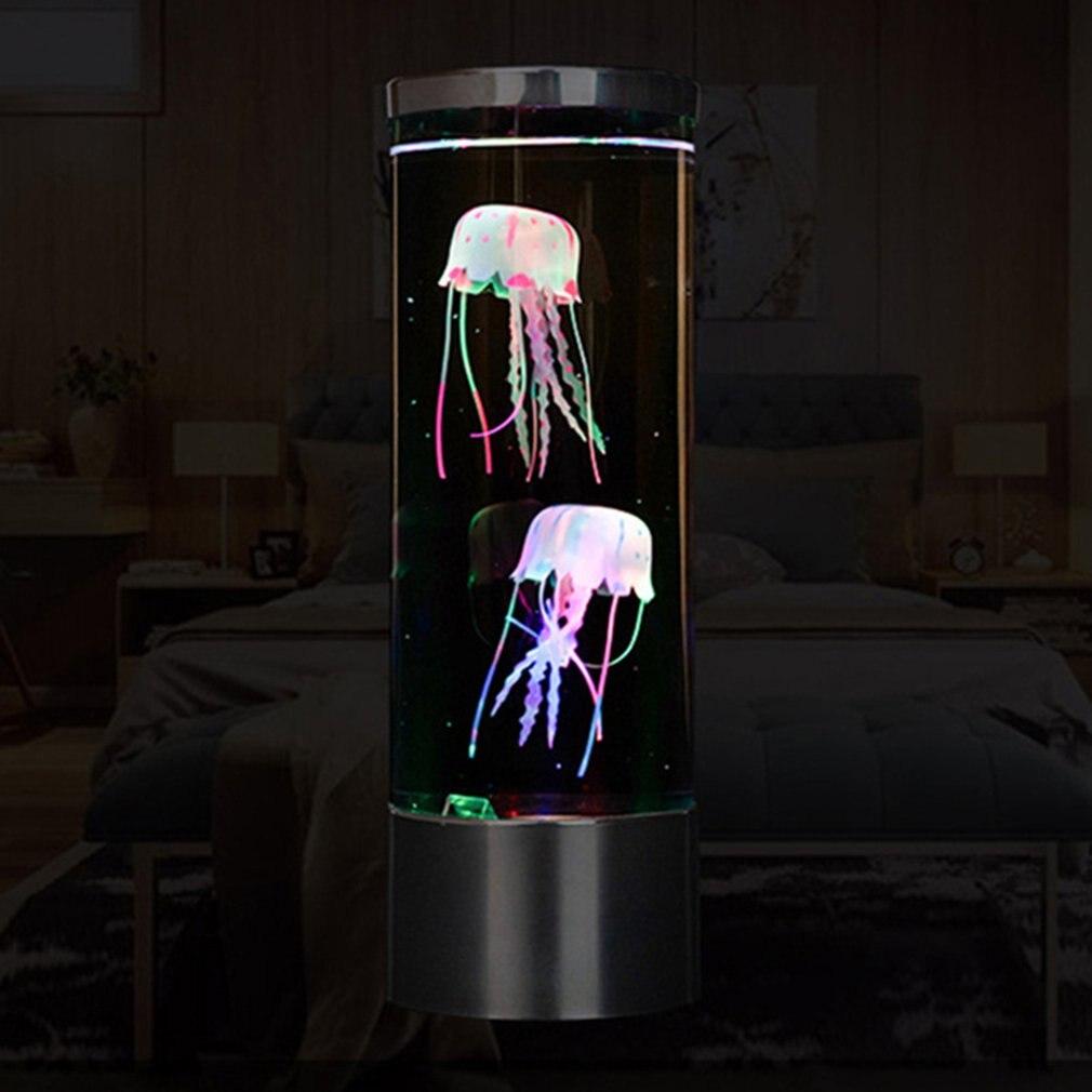 Новинка, USB зарядка, медузы, светодиодная лампа, меняющая цвет, украшение дома, Ночной светильник, медузы, аквариумные светодиодные лампы