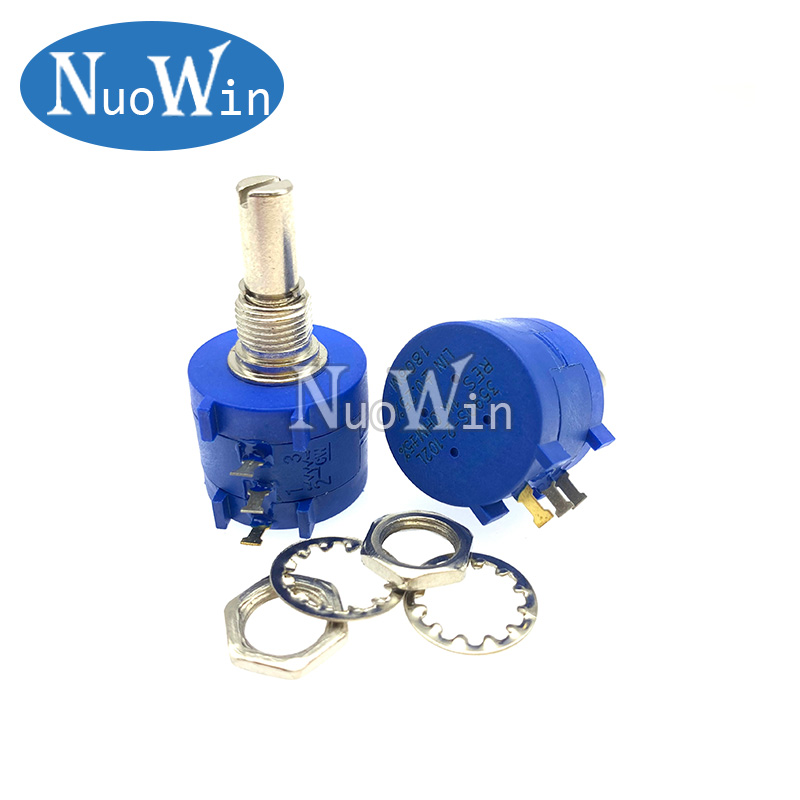 3590S-2 102L~502L Wirewound Potentiometer 500R 1K 2K 5K 10K 20K 50K 100K Ohm