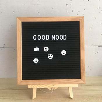 Felt Letter Board Wooden Frame Changeable Symbols Numbers Characters Message Board Home Office Decor Birthday Gift For Kids