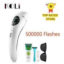 Koli IPL Epilator Permanen Laser Hair Removal LCD Display 500000 Pulsa Depilador Laser Bikini Photoepilator(China)