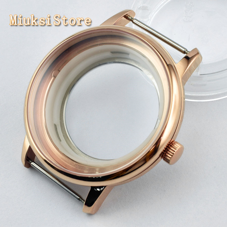 40mm Rose Gold Case Sapphire Glass Fit ETA 2836 Miyota 8205/8215/821A Mingzhu DG 2813/3804 Movement
