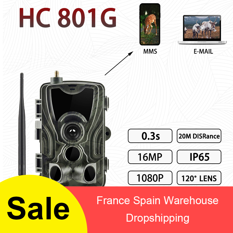 HC-801G 3G  801A 801 LTE Hunting Camera 16MP Trail Camera SMS/MMS/SMTP IP66 Photo Traps 0.3s Trigger Time 940nm LEDs Wild Camera