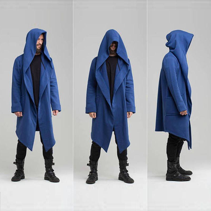 New Fashion 2020 Brand Men's Jackets Men's Winter Jacket Long Cardigan Cloak Cape Loose Coat
