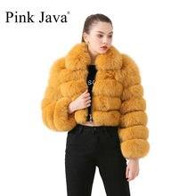 Roze Java QC19021 Nieuwe Collectie Hot Koop Real Vos Bontjas Vrouwen Winter Bont Jas Korte Jassen Hot Koop Natuurlijke bont Jassen