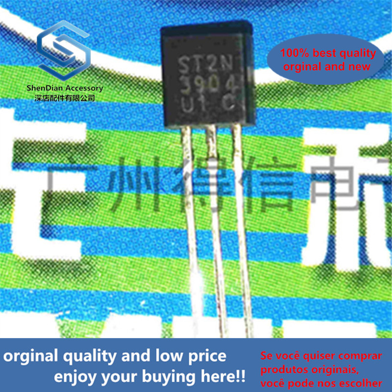 50pcs 100% Orginal New 2N3904 3904 NPN General Purpose Amplifier Copper Feet TO-92  Real Photo