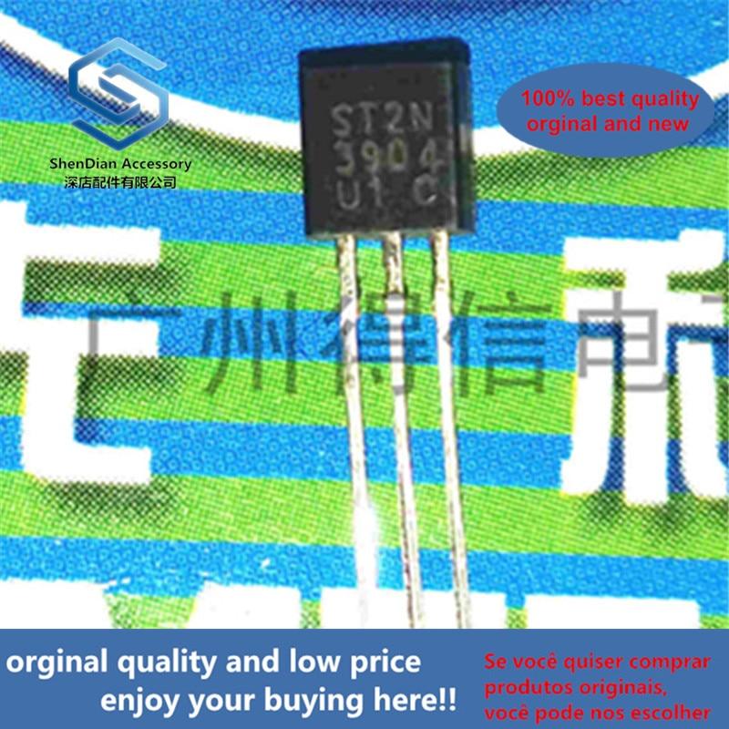50pcs 100% Orginal New 2N3904 3904 NPN General Purpose Amplifier Copper Feet TO-92  Real Photo