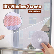 Kreatywne DIY niewidoczne proste ekrany mogą być cięte szyfrowane ekrany z samoprzylepnymi ekranami przeciw komarom FD tanie tanio Okno Drzwi i okna ekrany Hook Loop Zapięcie Mosquito screen Włókno poliestrowe