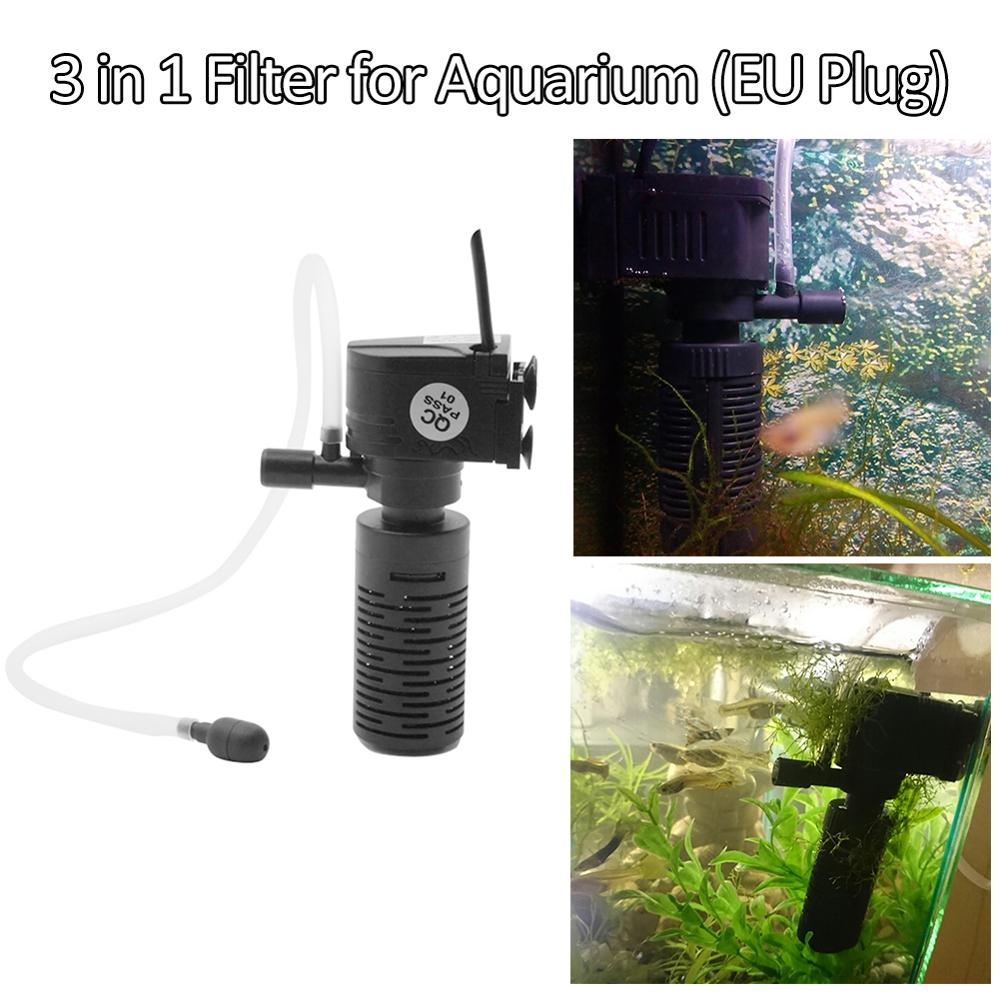 Mini 3W 3 In 1 Filter For Aquarium Purifier Fish Tank Filter For Aquarium Oxygen Submersible Water Purifier High Quality