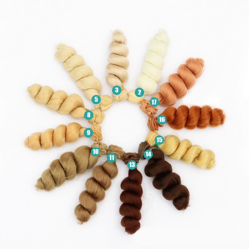 15 Cm High Temperature Big Wave Handmade Cloth Doll Wigs Diy Texitle Doll Curl Hair Accessories Wigs Hair For 1/3 1/4 1/6 BJD/SD