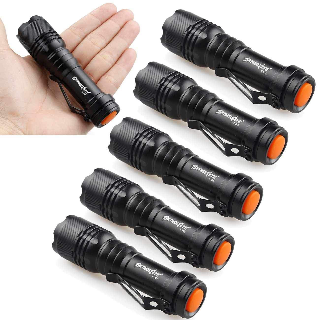 7W 1200lm CREE Q5 LED Zoomable Focus Flashlight Tactical Hiking Torch Lamp Light
