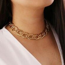 Геометрические преувеличенные Панк Ожерелье для хули женские