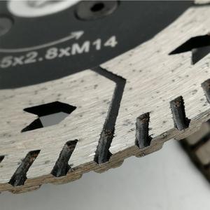 """Image 5 - SHDIATOOL 1 قطعة 115 مللي متر أو 125 مللي متر قاطع ماسي Grindng القرص ضياء 4.5 """"أو 5"""" المزدوج شفرة المنشار قطع طحن شحذ الجرانيت الرخام شفرات"""