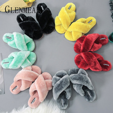 Women Slippers Indoor Shoes Winter Soft Home Slippers Plush Warm Non-slip Fur Shoes Flat Casual Female yomisoy lovely heart shaped ladies women home floor soft women indoor slippers sandals shoes female cashmere warm casual shoes