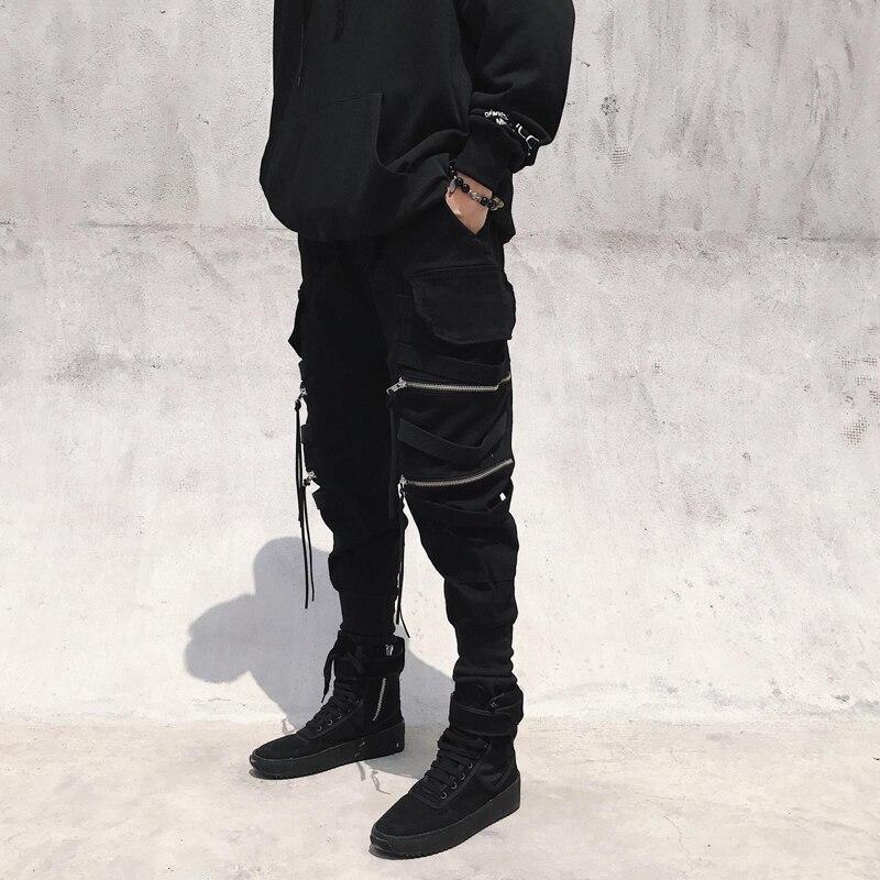 11 BYBB'S DARK Harajuku Streetwear Joggers Pants Men Fashion Autumn Pencil Pants Hip Hop Elastic Waist Ribbon Trousers Male GY81