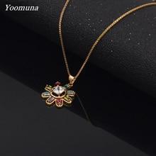 korean necklace multicolor flower choker pendant romantic Chain necklace women stainless steel necklace fashion jewelry necklace guess necklace page 15