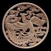 Wood Frame Wood Applique Onlay Carved Natural Decoration Long Leaves Flower Rubber Wood Cabinet Furniture Walls HomeHot Sale 1