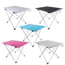 Открытый алюминиевый складной стол для пикника, кемпинга, Сверхлегкий компактный размер с сумкой для хранения для рыбалки на заднем дворе