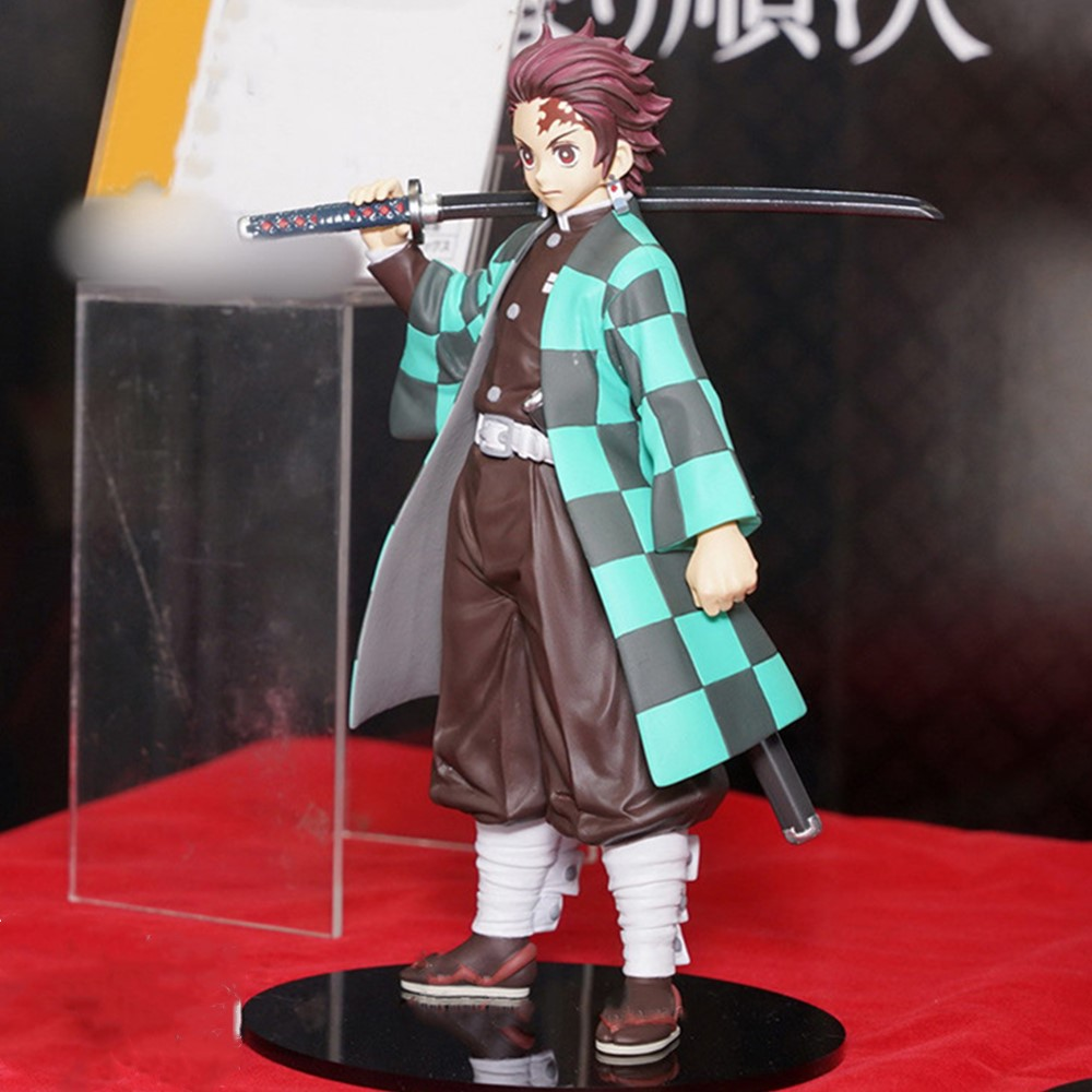 Demon Slayer Kimetsu No Yaiba Kamado Tanjirou Kamado Nezuko Action Figure Toys PVC Anime Collectible Brinquedos Model Doll Figma