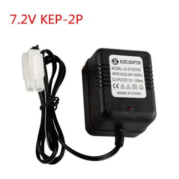 Portable Smart Charger Charging Adapter for 7.2V Ni-Cd Ni-MH Battery with KET-2P Plug for RC Remote Car Toys image