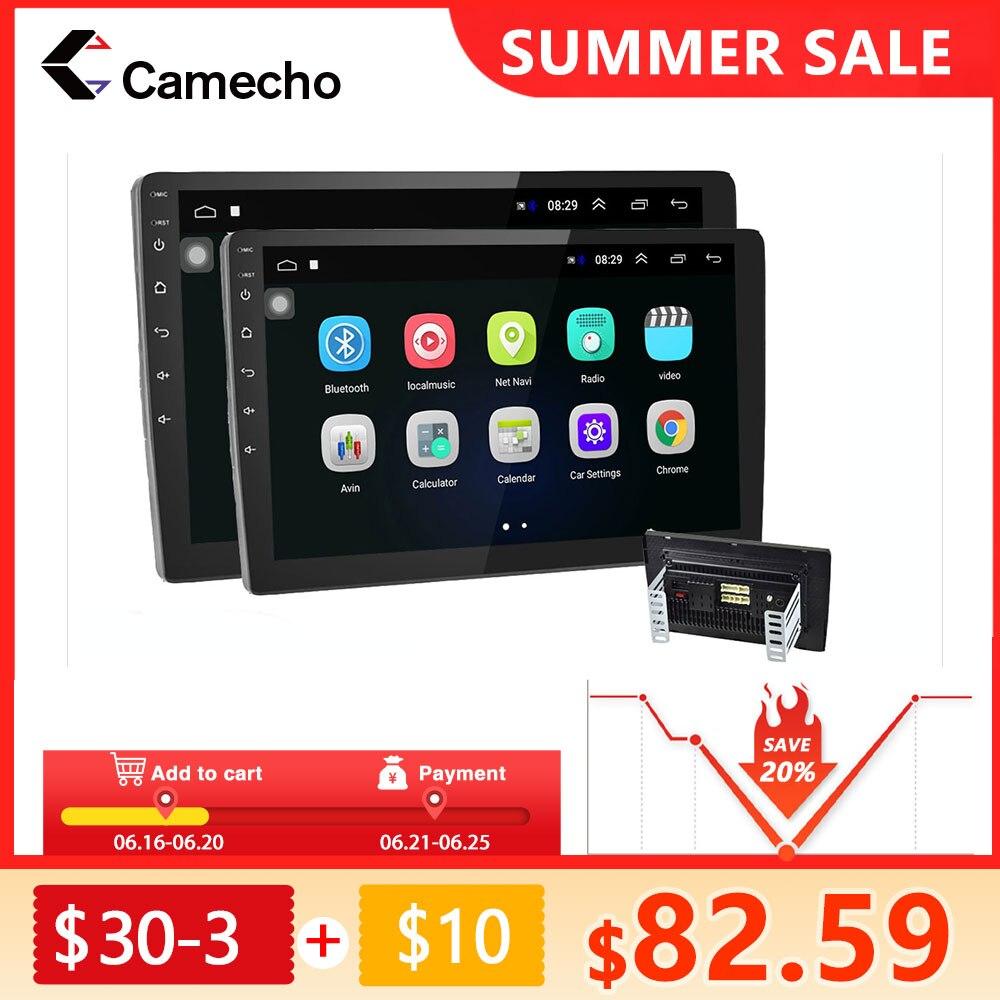 Автомагнитола Camecho, мультимедийный видеоплеер на Android, с Wi-Fi, GPS, FM, для Volkswagen, Nissan, Hyundai, Kia, Passat 6, типоразмер 2 Din