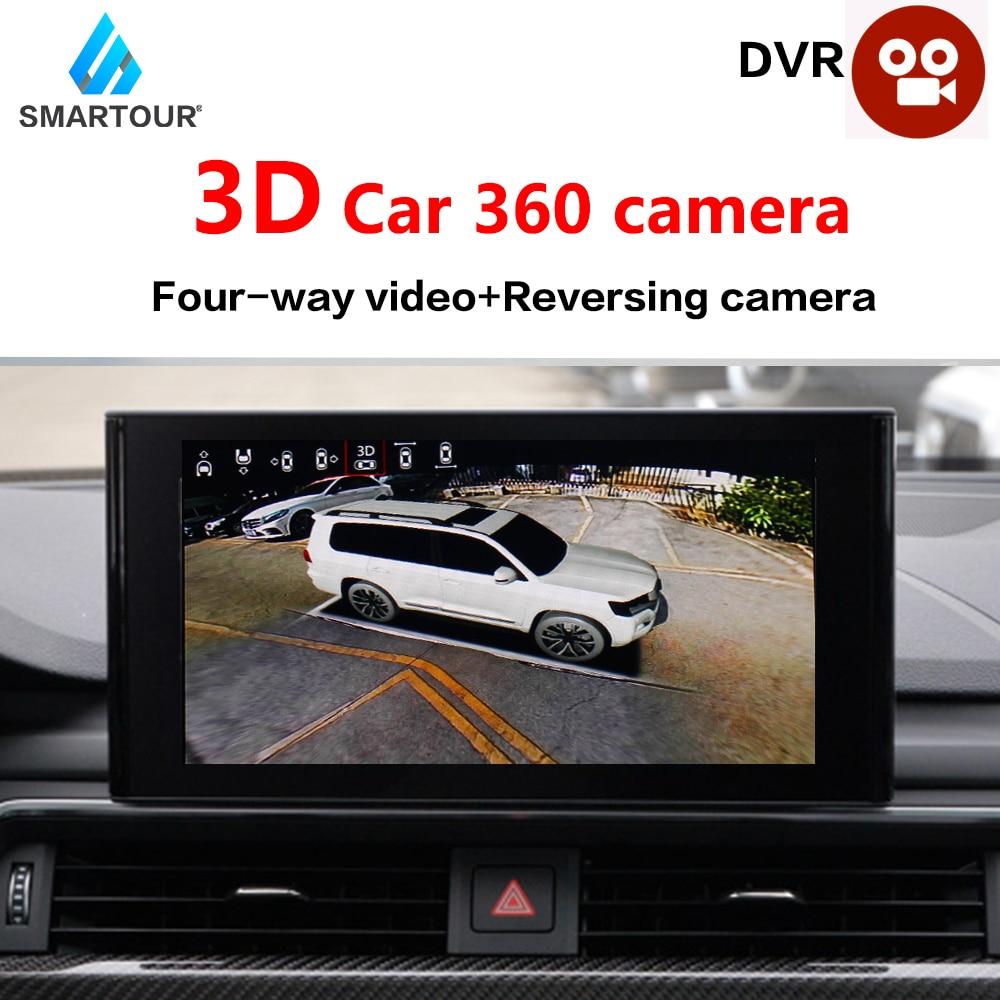 DVR Camera Surround-System Bird-View 30-Car-Model-Optional 360-Degree 1080P 3D HD No