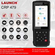 Launch x431 crp479 obd2 자동 스캐너 epb sas abs dpf 오일 리셋 obd 2 진단 도구 자동차 터치 스크린 obd2 스캐너 출시 Launch