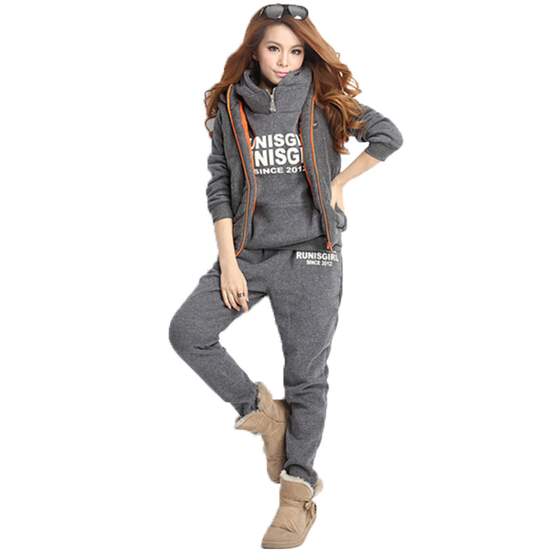 >4 <font><b>Color</b></font> 8 Size 3 Piece Sets Suit Women Tracksuit <font><b>Outfit</b></font> Training 2020 Sweatsuit Winter Clothing 2018 Jogging