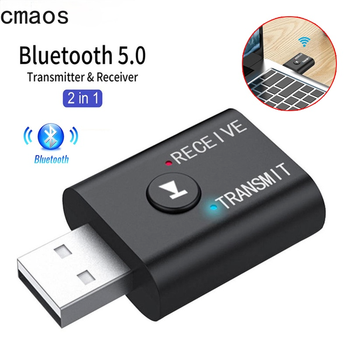 2 In1 USB Wireless Bluetooth Adapter 5.0 Transmiter Bluetooth for Computer TV Laptop Speaker Headset Adapter Bluetooth Receiver 1