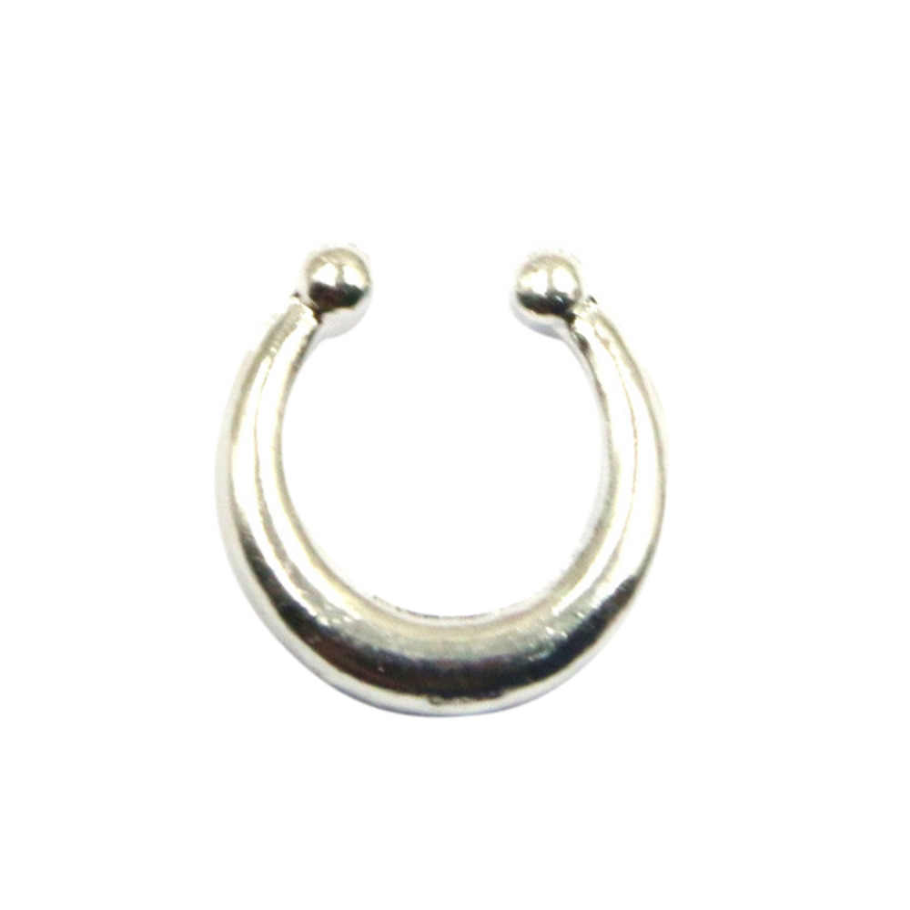 1PC แฟชั่นปลอม Septum Hoop Septum คลิป Hoop เครื่องประดับของขวัญไทเทเนียมจมูกแหวนเจาะสีทองคลิป