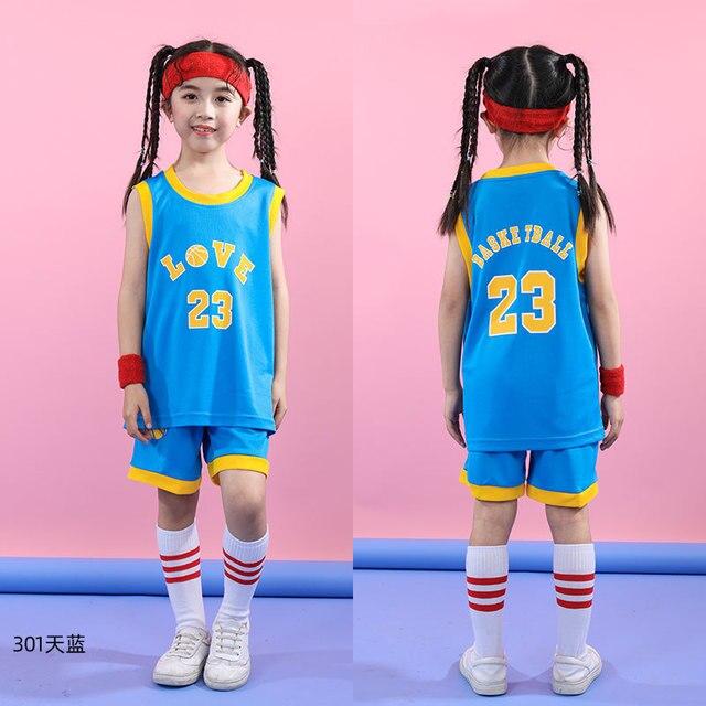 das crianças jérsei & shorts crianças basquete