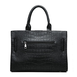 Image 4 - ブランドワニ革高級ハンドバッグの女性のデザイナーカジュアルトートファッション女性メッセンジャーショルダーバッグ嚢送料メイン