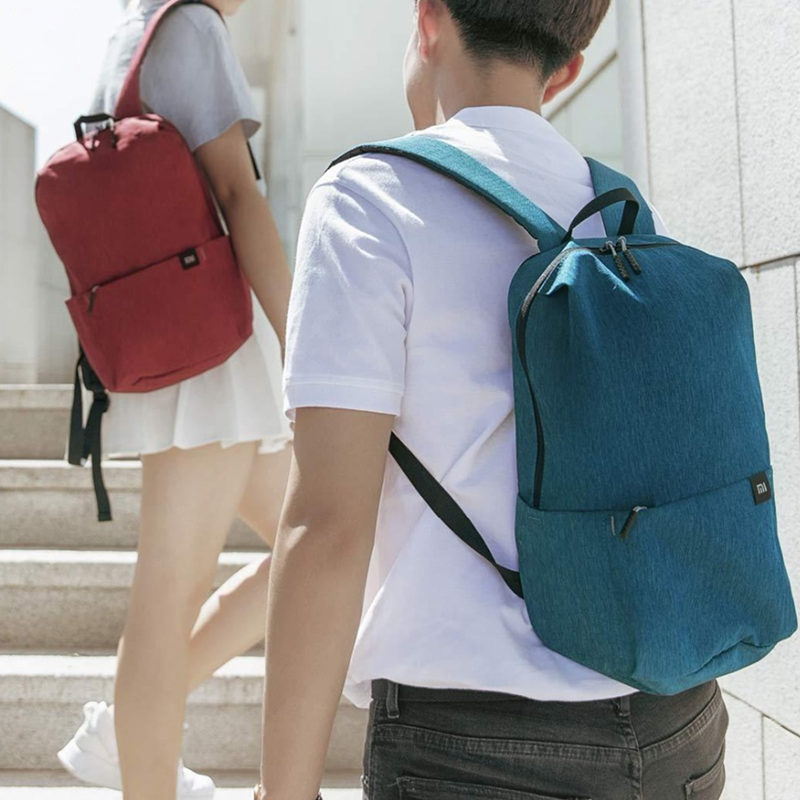 MI 10L Backpack Men Women Mini Backpack 8 Colors Small Waterproof Nylon Bag Zipper Outdoor Travel Unisex Backpack Mochila