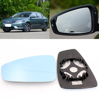 Para roewe i6 w5 porta de visão lateral do carro grande-angular espelho retrovisor vidro azul com base aquecida 2 pçs