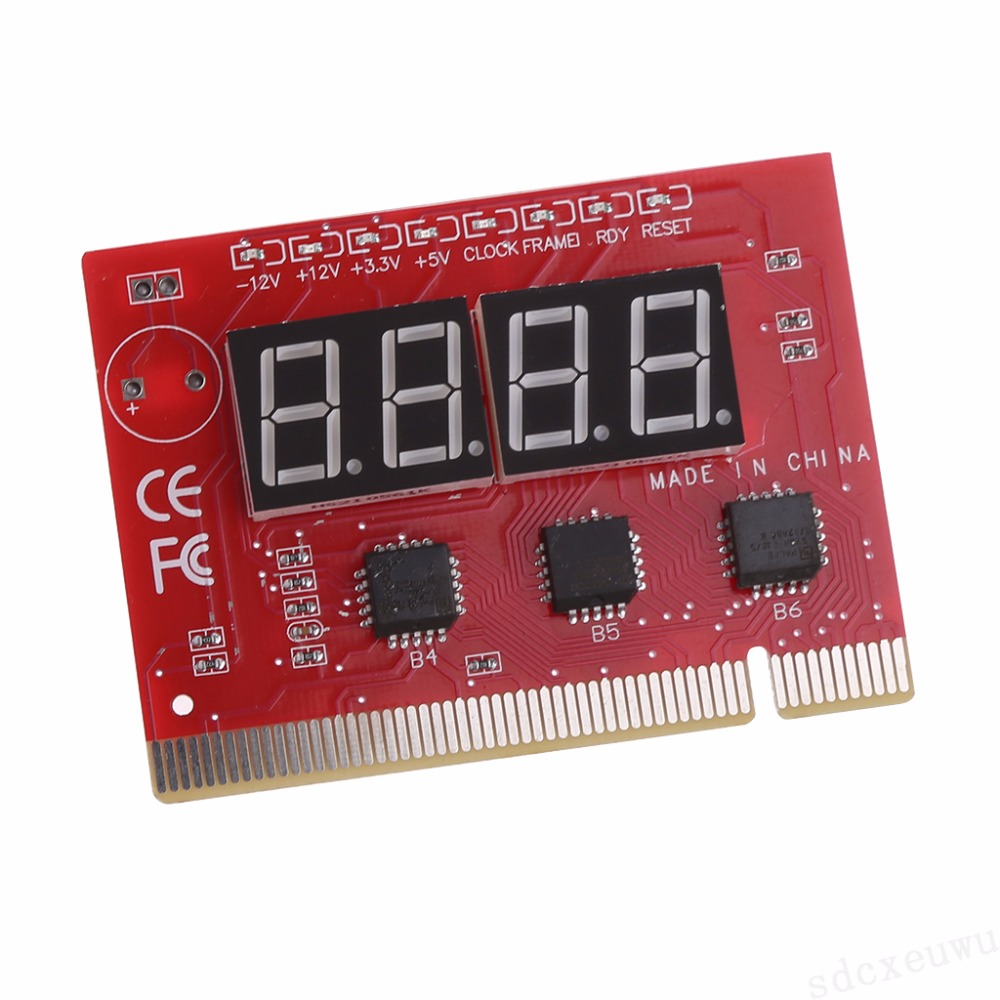 New Computer PCI POST Card Motherboard LED 4-Digit Diagnostic Test PC Analyzer High Quality 2