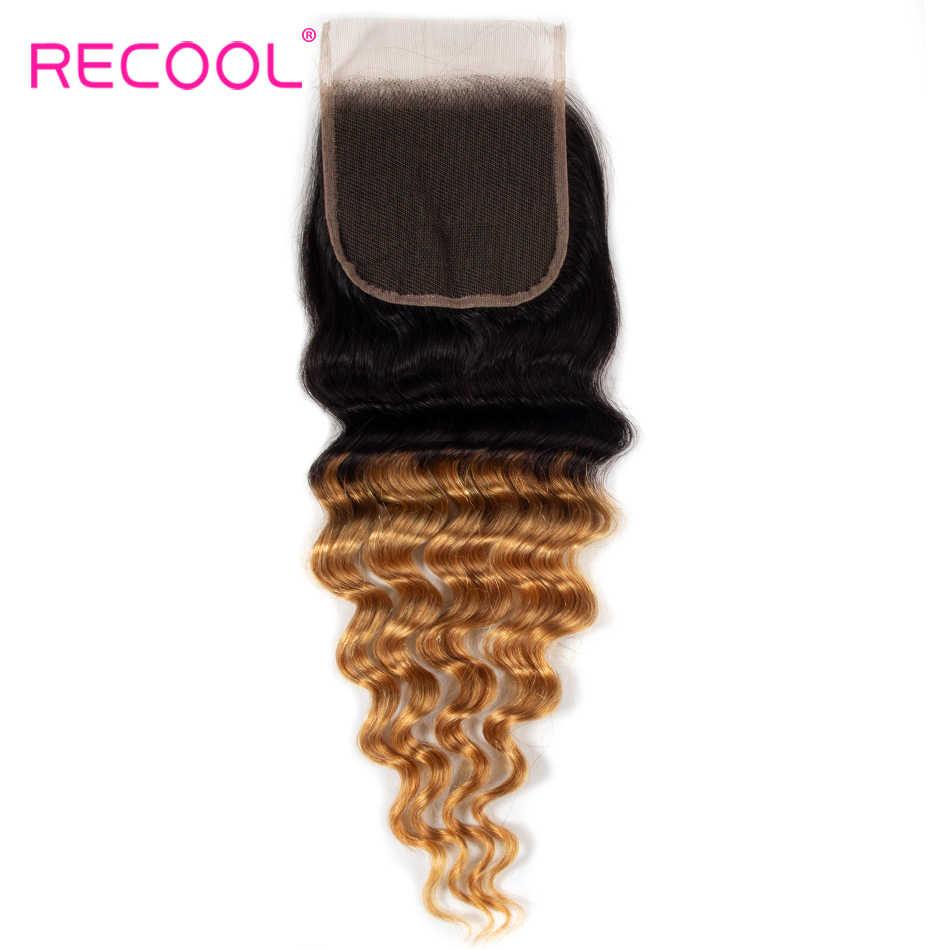 Удлинительный парик бразильские человеческие волосы Кружева Закрытие 4*4 Remy 1B 27 цветов бразильские Свободные глубокие человеческие волосы Кружева Закрытие