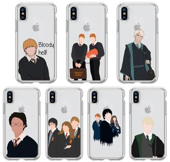 Malfoys Weasley Twins Phone Case For iPhone 11 12 Pro XS MAX XR X 7 8 6Plus SE 2020 Candy Soft Silicone Phone Cover Bag image