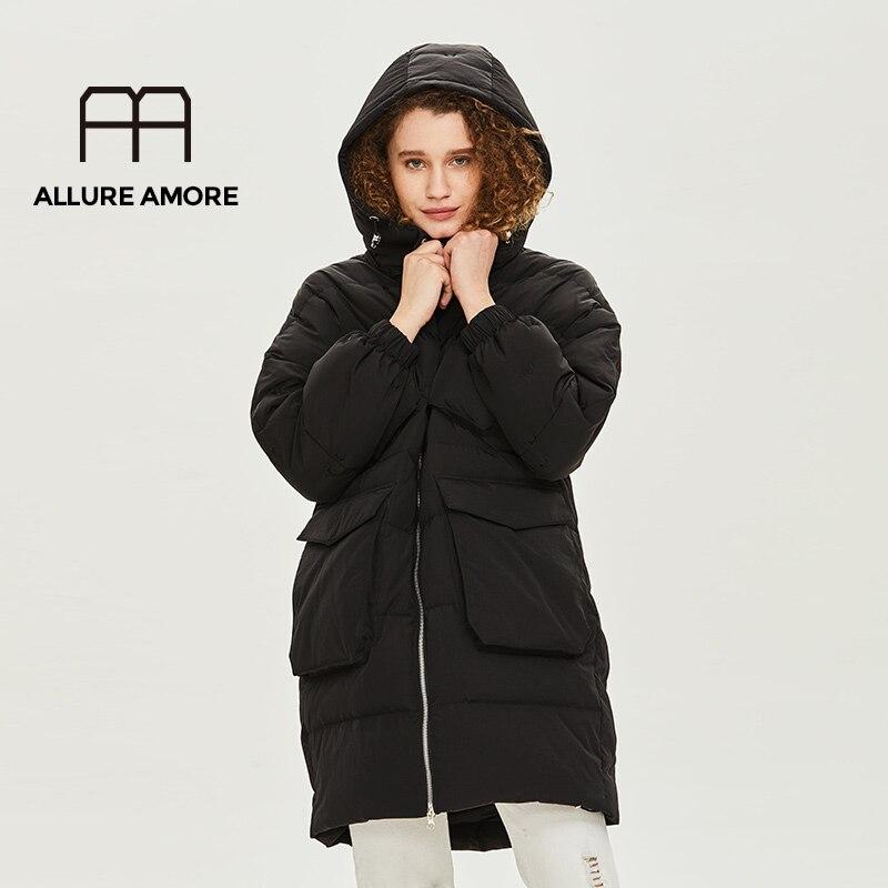 Allure Amore  Winter Coat Women Down Coat White Goose Down Jacket Women Long  Jacket Oversized Warm Parka Veste Femme