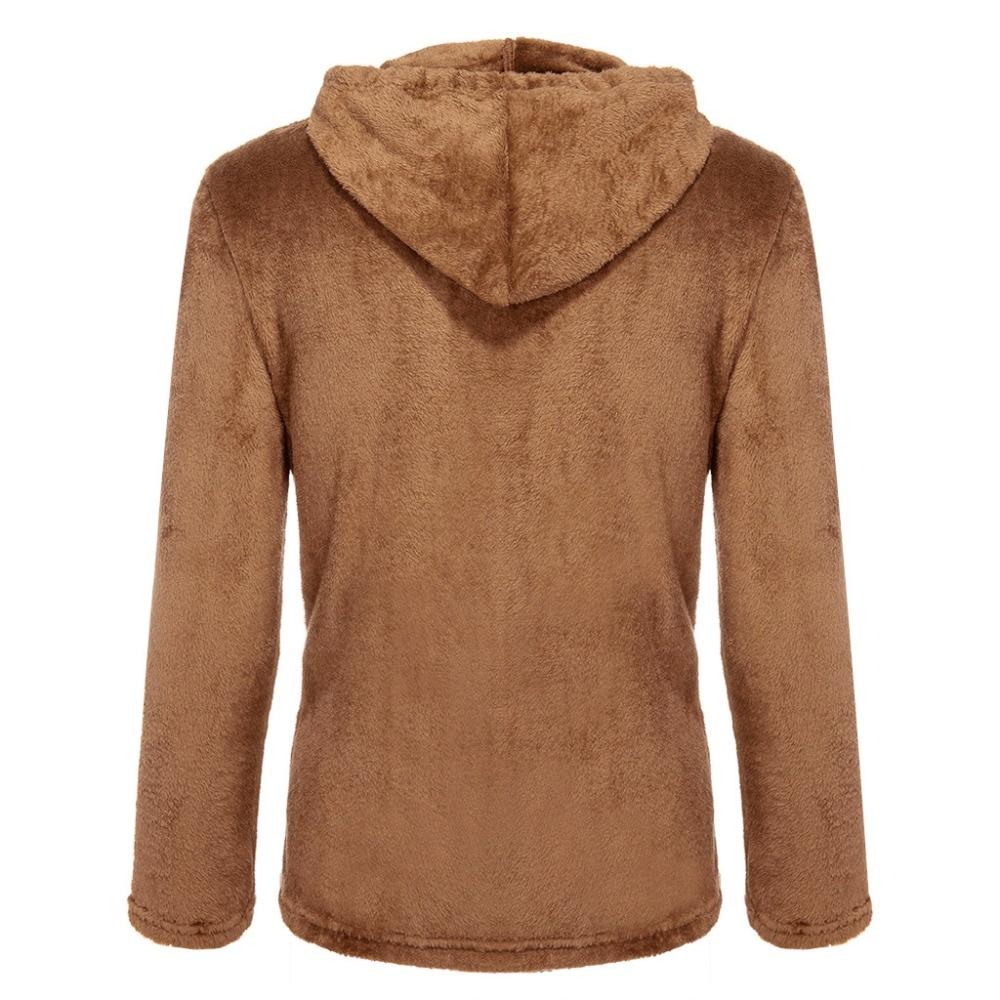 Had303271e89b4a68978311b61b1fc528Z Jacket Men's Sweater Warm Hooded Sweater Coat Jacket Men's Autumn Winter Casual Loose Double-Sided Plush Men's Sweater Coat Top