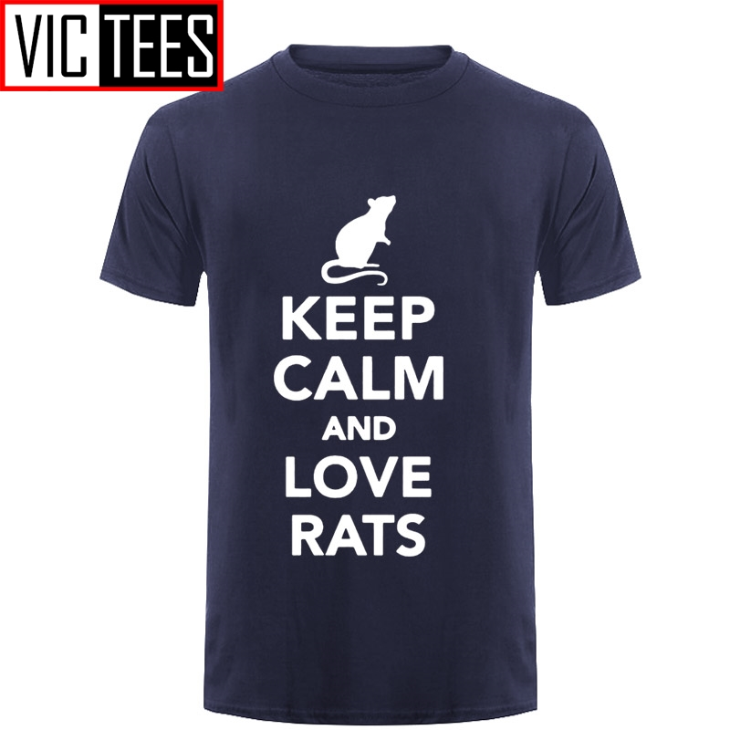 Men Keep Calm And Love Rats Fashion Casual Funny T-Shirt