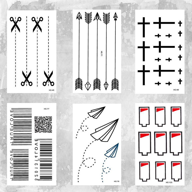 Turning Fold Plane  Tattoo Body Art Beauty Makeup Waterproof Temporary Tattoo Stickers