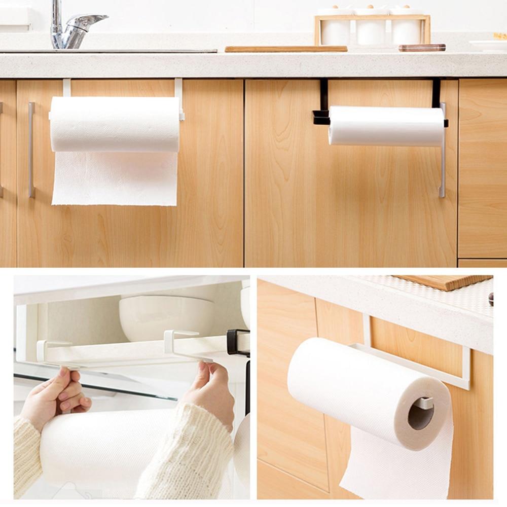 Kitchen Tissue Holder Hanging Bathroom Toilet Paper Holder Roll Paper Holder Towel Rack Kitchen Toilet Paper Stand Towel Holder