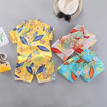 1-3Y zestaw ubrań dla chłopców letnie dziecko chłopcy dziewczęta z liściastym nadrukiem topy + spodenki spodnie stroje zestaw odzież plażowa zestawy ubrań dla niemowląt tanie tanio COTTON POLIESTER W wieku 0-6m 7-12m 13-24m 25-36m Na co dzień CN (pochodzenie) Lato Z okrągłym kołnierzykiem Jednorzędowe