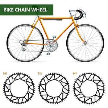 130 BCD 9 10 11 Speed Hollow Alloy Single Disc Chainwheel Road Folding Bike Chain Wheel 50/52/54T Chainring image