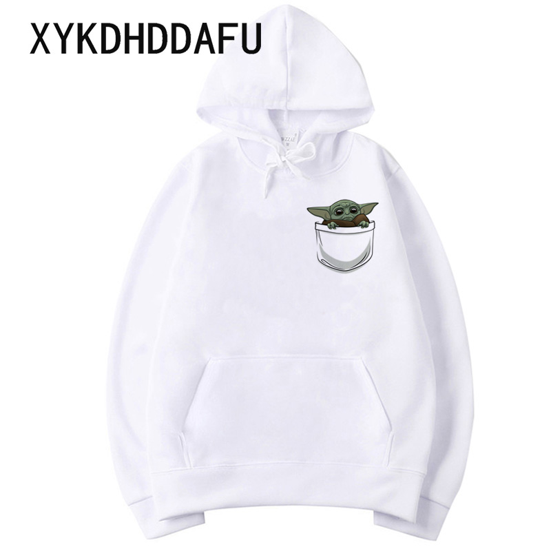 Mandalorian Hoodies Baby Yoda Men/women Sweatshirt Star Wars Moive Graphic Hood Hooded Harajuku Male/female Clothes Funny