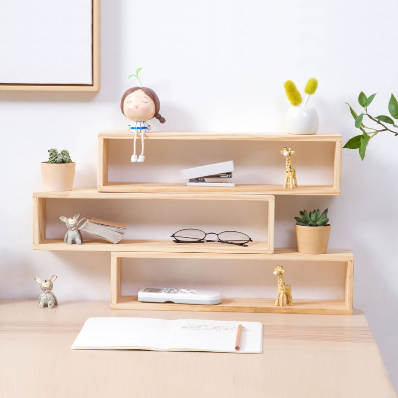 Wooden Desktop Storage Rack Organization for Home Office Table 2