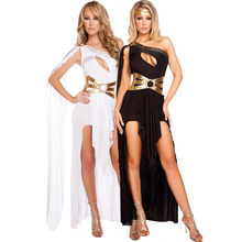 Costumes-Sets Halloween-Costume Goddess-Dress Sexy Women's And Foreign One-Shoulder Greek
