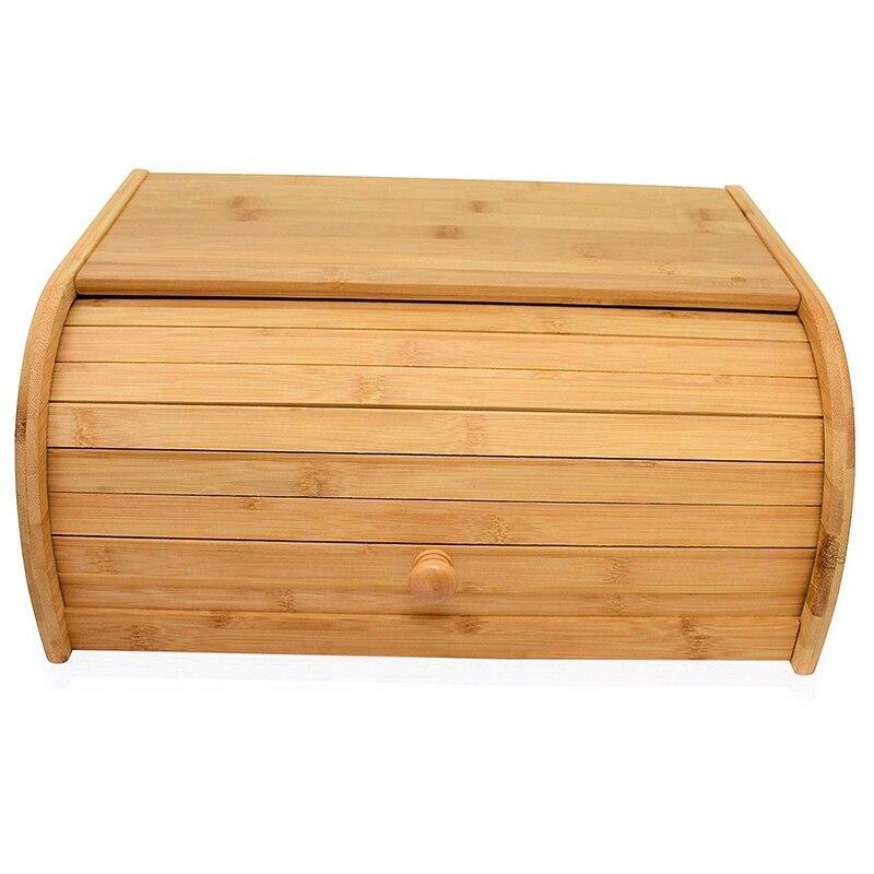 Горячая натуральная бамбуковая Хлебница для кухонных столешниц, большая Хлебница кухонное Хранение продуктов-(требуется сборка)