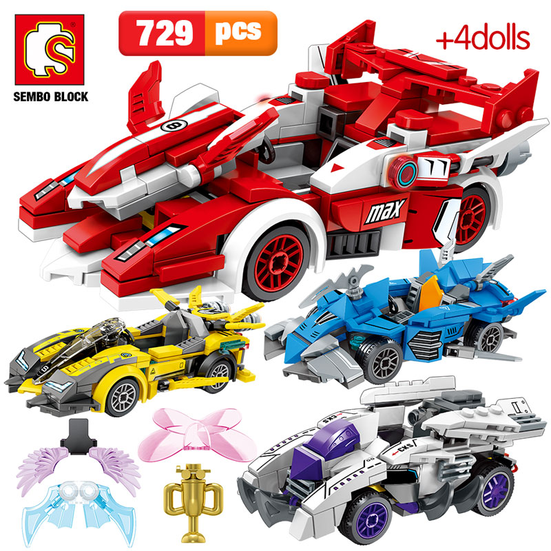 SEMBO 729pcs Creator Series City Car Assembly Building Blocks Legoing Technic Racing Car MOC Model Bricks Toys for Children Gift 1