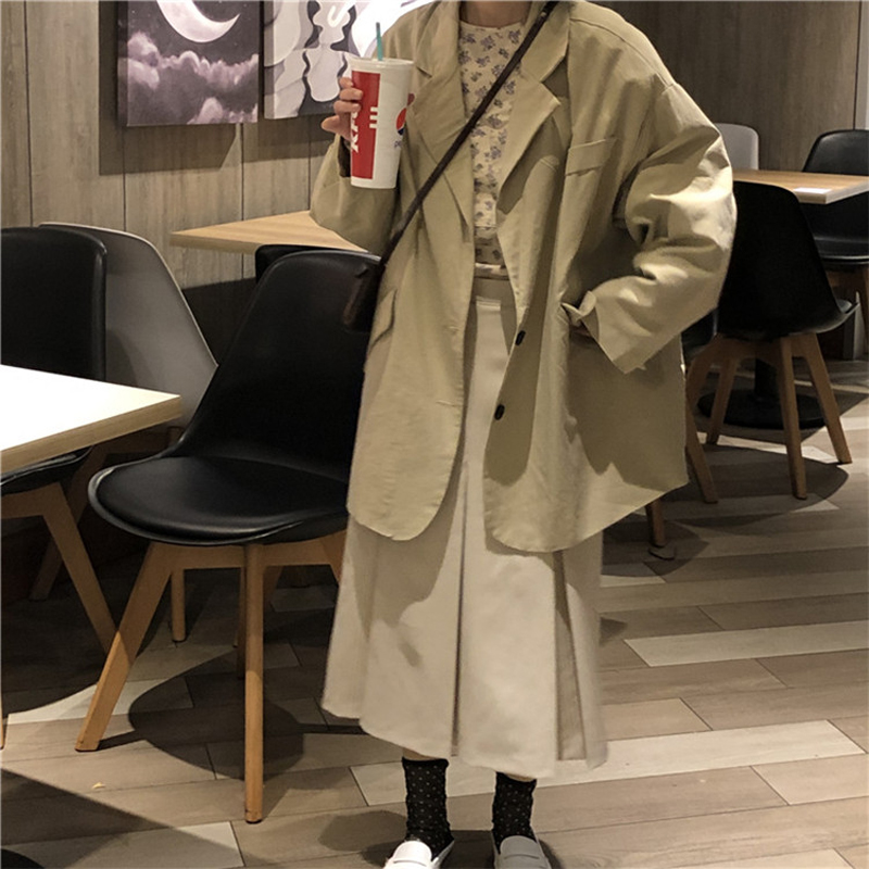 Mazefeng New Double Breasted Women Blazer Pockets Jackets Female Preppy Style Suits Coat Feminino Blazers Outerwear High Quality